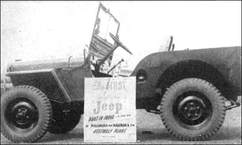 3 Rd Of June The First Willys Jeep Boult In India By M Amp M