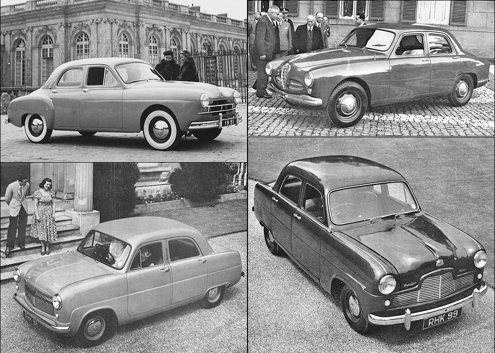Renault Fregate, Alfa Romeo 1900, Ford Consul and Zephyr